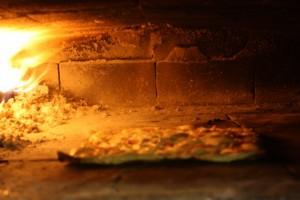 Tarte flambée dans le four de l'étoile d'or Batzendorf